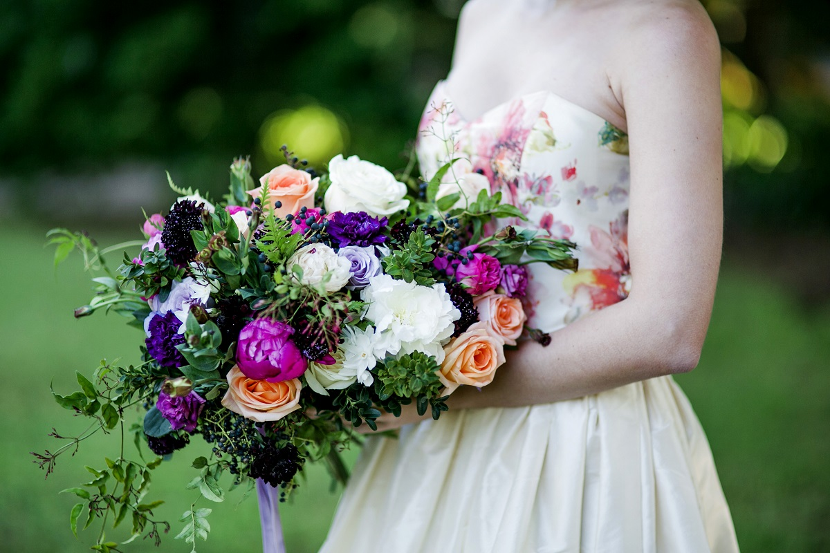 garden soiree wedding flowers